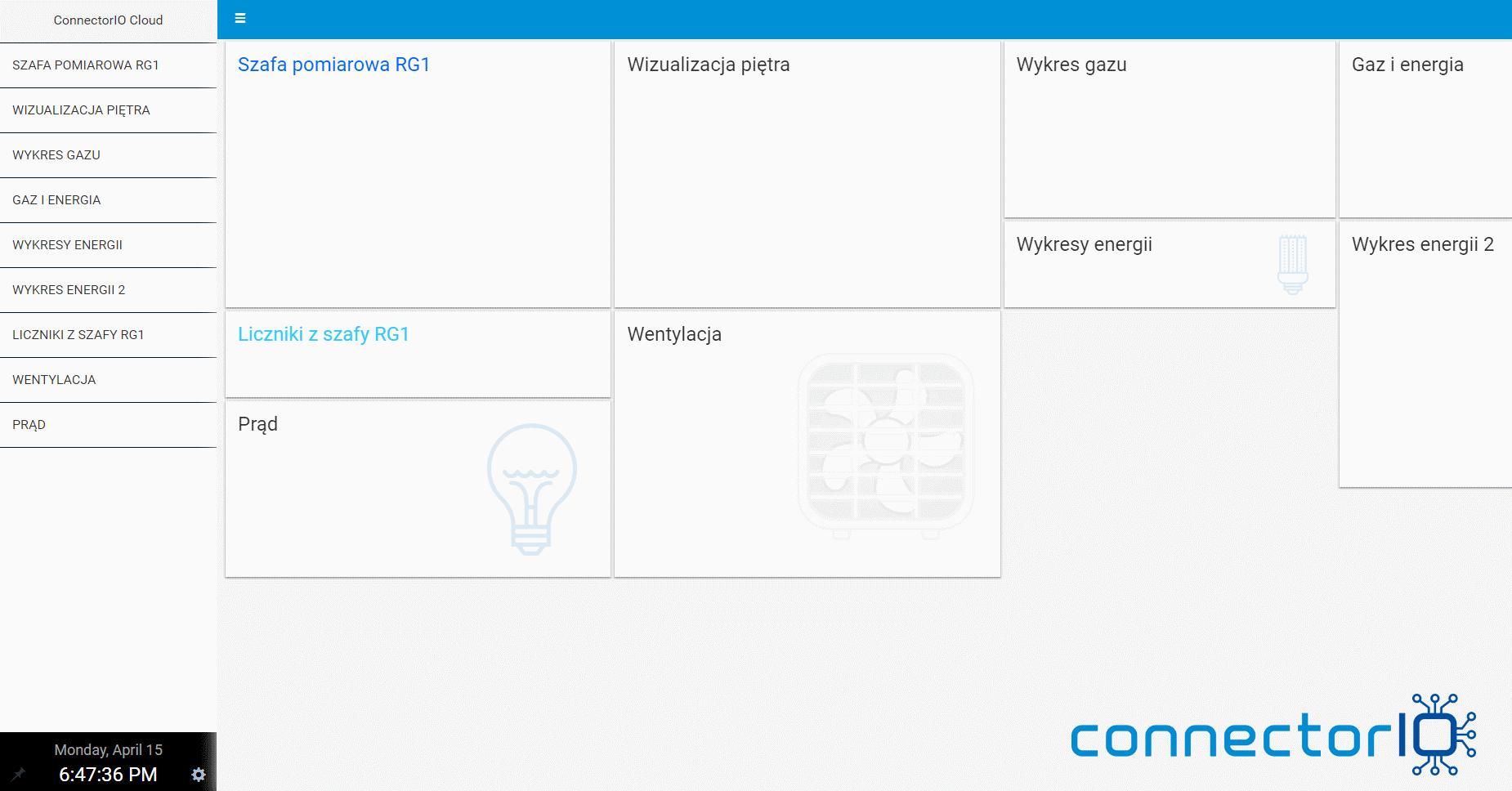 connectorio building automation software dashboard